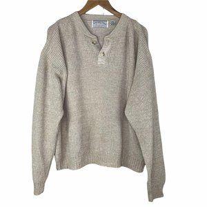 American Eagle Vintage Henley Oversized Sweater